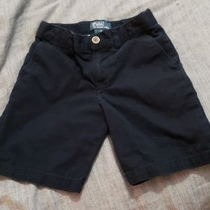 Navy boys polo khaki shorts size 6